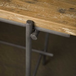 Table basse en teck et métal 100x100 Pesar