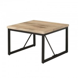 Table basse bois et métal 60x60 Raven