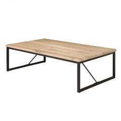 Table basse bois et métal 135x70 Raven