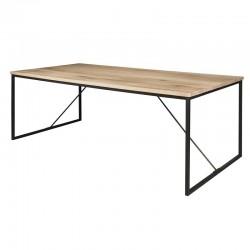 Table à manger bois et métal Raven