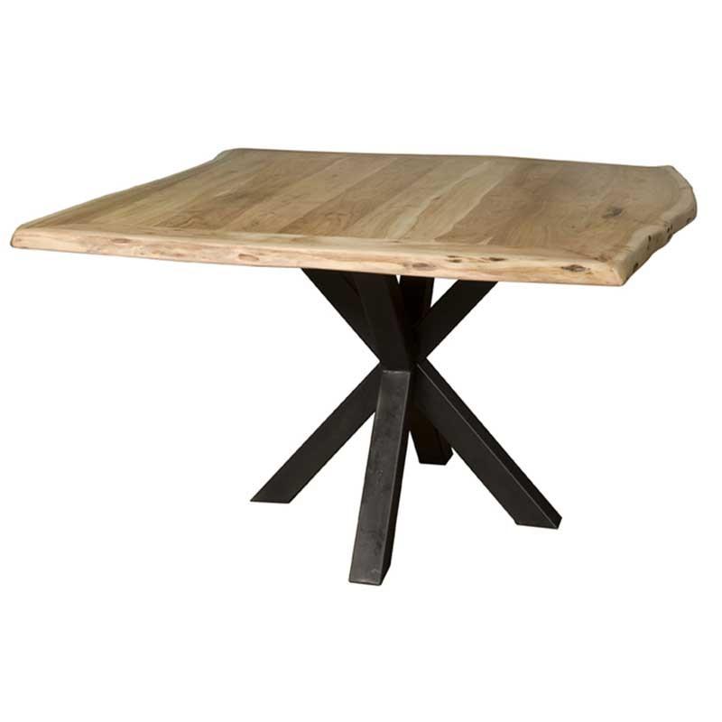 Table à manger carrée en acacia Soraya