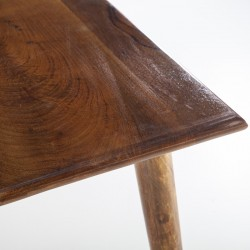 Table à manger en manguier 80x80 Wiscon