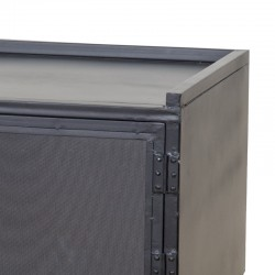 Meuble TV en métal 130 Industriel