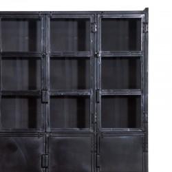 Vitrine 3 portes en métal 125 Industriel