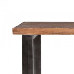Table bar en manguier et métal 90 Manga