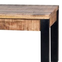 Table basse en manguier et métal 130x70 Venturo