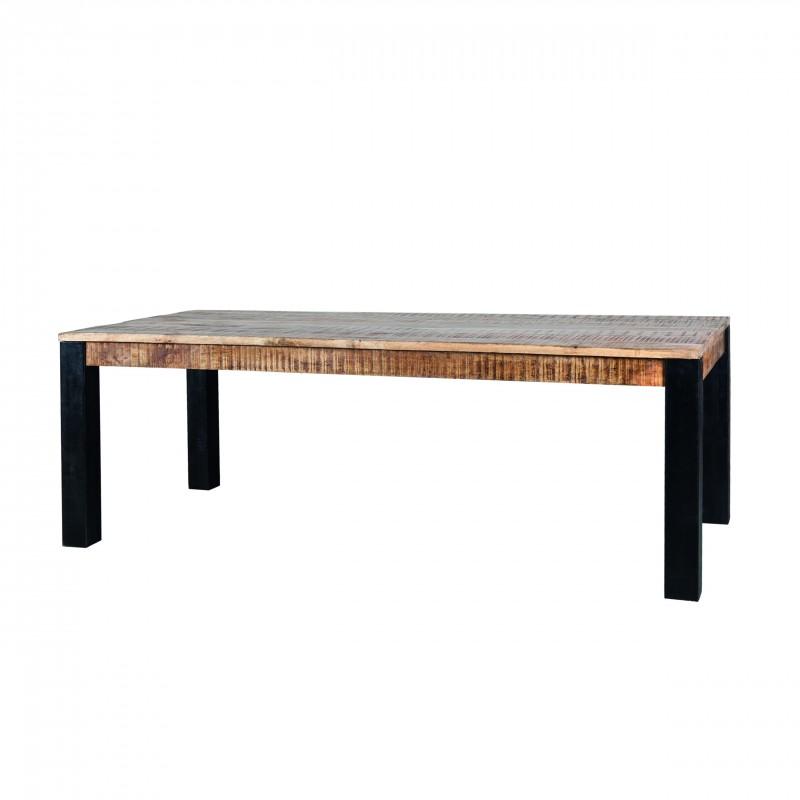 Table à manger en manguier et métal 160x90 Venturo
