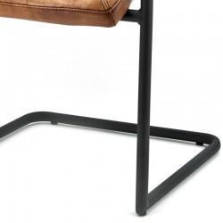 Chaise design en cuir Mikas