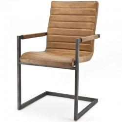 Chaise design en cuir Swans