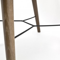 Chaise design en tissu avec accoudoirs Chibas
