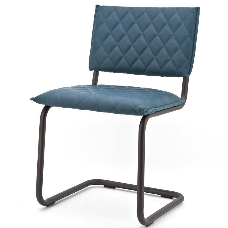 Chaise design look cuir Vespera