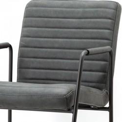 Chaise design en cuir Graha