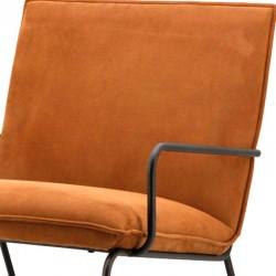 Fauteuil design en tissu Deltas