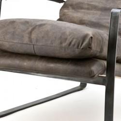 Fauteuil design en cuir Lexa