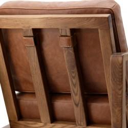 Fauteuil design en cuir Olas
