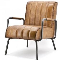 Fauteuil design en cuir Marvyn