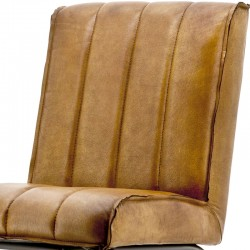 Chaise design en cuir Marvyn