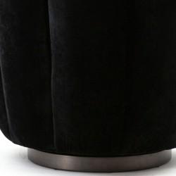 Fauteuil design en velours Marie