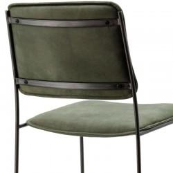 Chaise de bar design en cuir Mesy