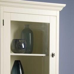Armoire vitrine 2 portes en bois 70 Liza