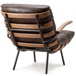 Fauteuil design en cuir Sébastien