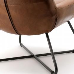 Fauteuil design en cuir Pedros
