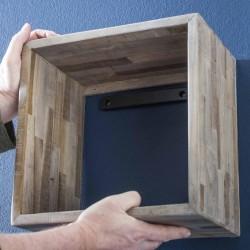 Étagère en bois de teck recyclé à vendre
