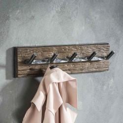 Porte manteau 5 crochets en bois robuste