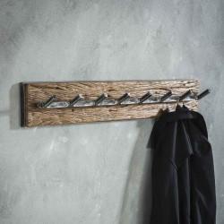 Porte manteau 8 crochets en bois robuste
