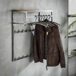 Porte manteau 14 crochets avec étagère