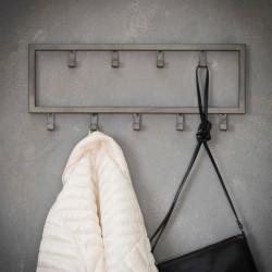 Porte manteau en métal 9 crochets