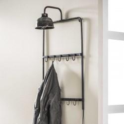 Porte manteau en métal avec lampe