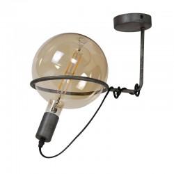 Plafonnier une ampoule 200 mm style industriel