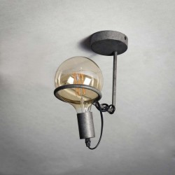 Plafonnier une ampoule 125 mm style industriel