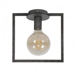 Plafonnier une ampoule incrustée dans un cadre en métal style industriel
