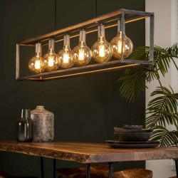 Suspension six ampoules dans une structure en métal de...