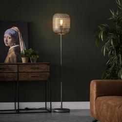 Lampadaire un abat-jour forme lampion de style contemporain