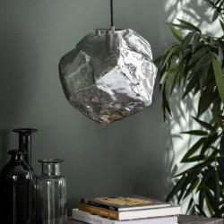 Suspension un abat-jour authentique forme rocher style contemporain
