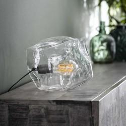 Lampe de table forme rocher en verre soufflé bouche de style contemporain
