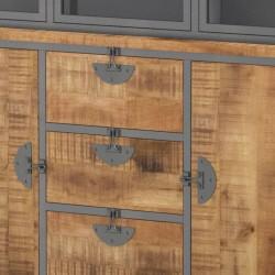 Armoire vitrine en manguier 160 Bastos