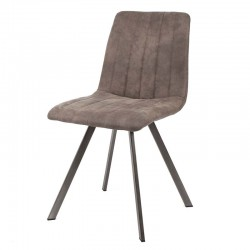 Lot de 2 chaises design couture verticale