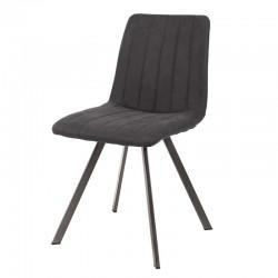 Lot de 2 chaises design couture verticale