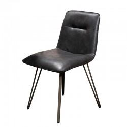 Lot de 2 chaises design en similicuir pieds forme V