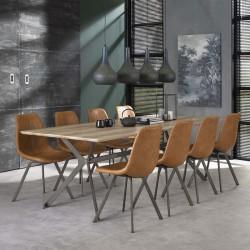 Lot 2 chaises design couture zigzag