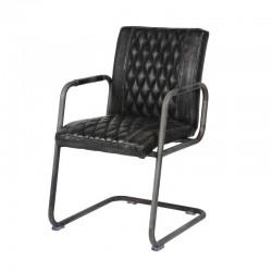 Lot 2 chaises design couture diamant avec accoudoirs