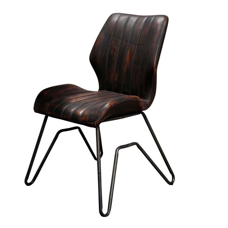 Lot 2 chaises design en similicuir pieds forme W