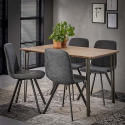 Lot 2 chaises design style scandinave