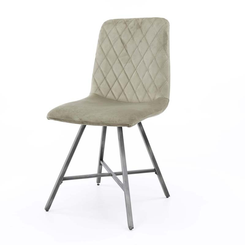 Lot 2 chaises design couture diamant