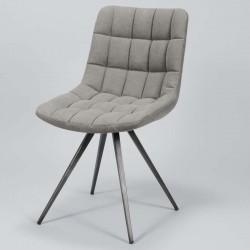 Lot 2 chaises design motif carré