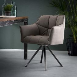Lot 2 chaises fauteuils design avec accoudoirs
